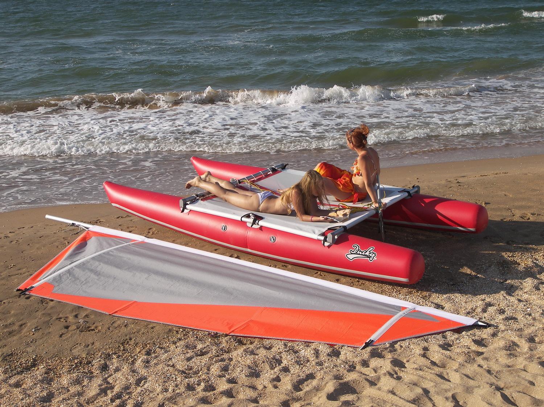 Inflatable sailing catamaran Ducky13