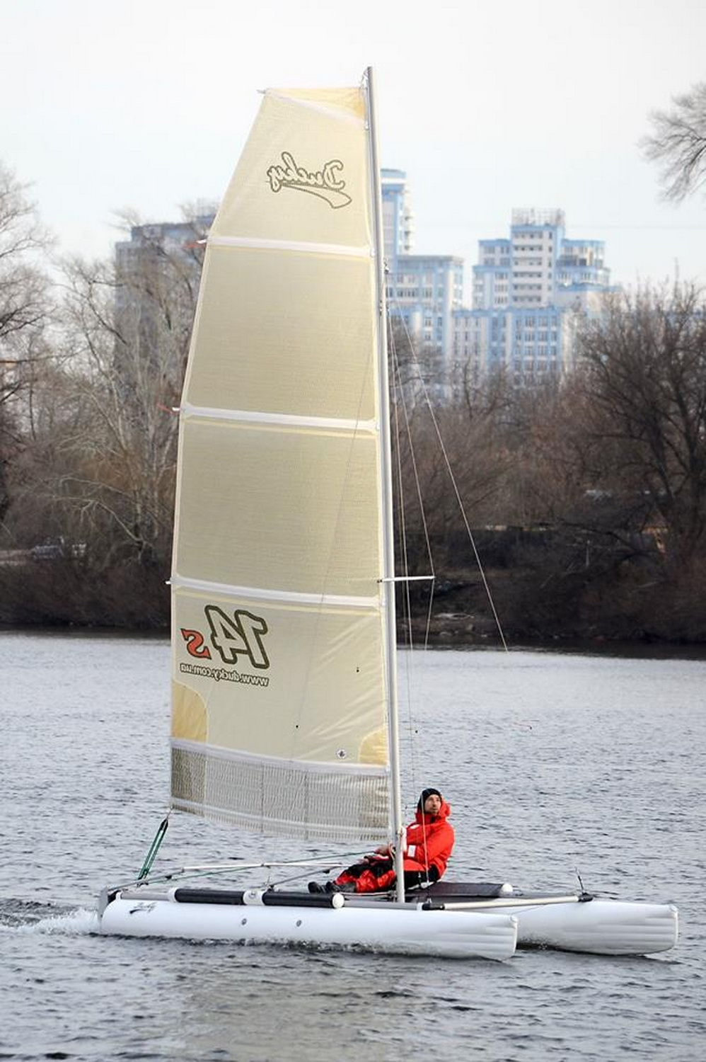Inflatable sailing catamaran Ducky14s