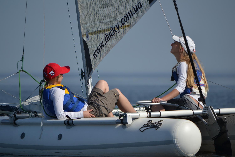 Inflatable sailing catamaran Ducky15
