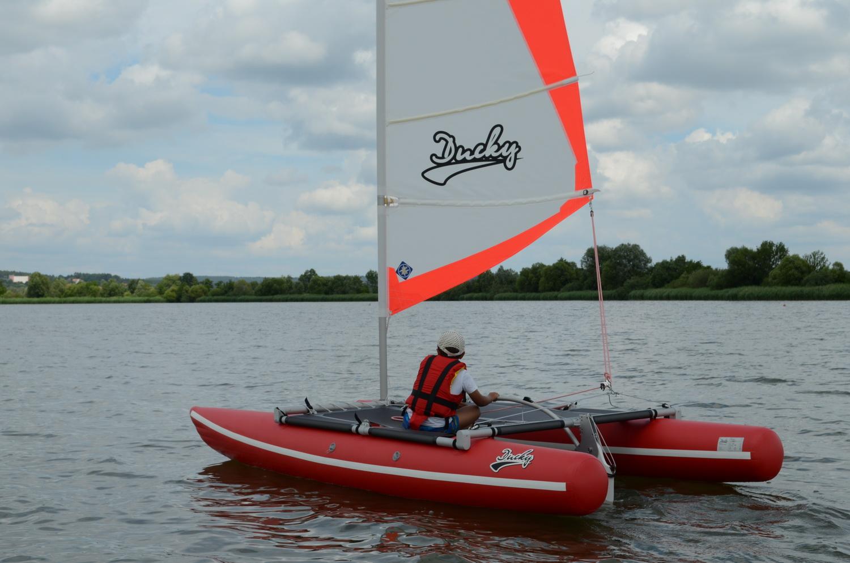 Сatamaran with sail