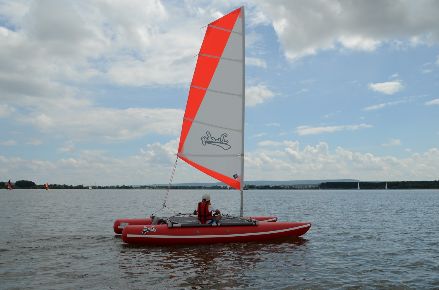 Inflatable sailing catamaran Ducky13