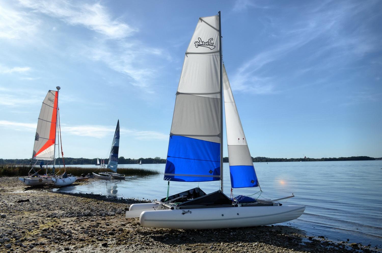 Sail inflatable catamaran Ducky16