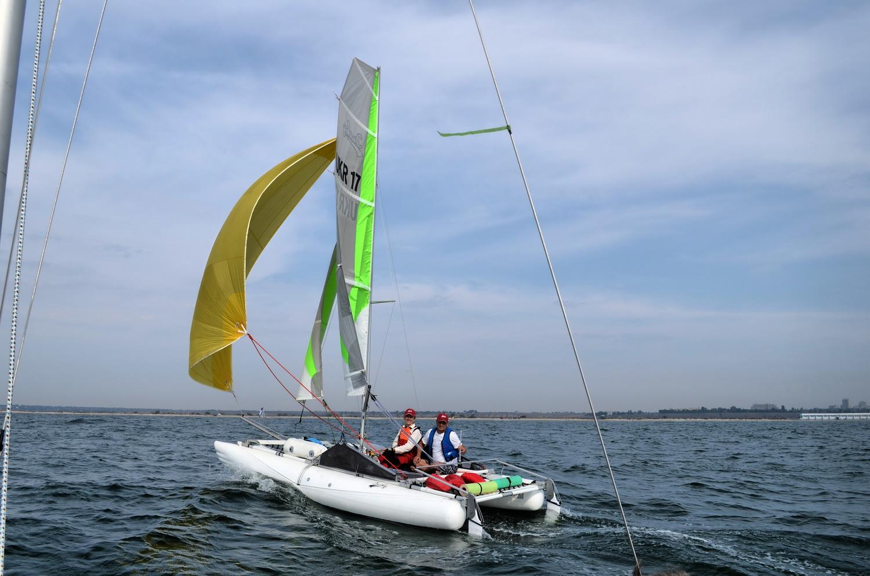 Sail inflatable catamaran Ducky17