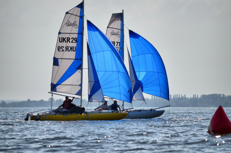 Inflatable sailing catamaran Ducky17