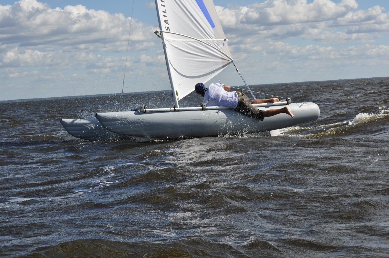 Inflatable sailing catamaran Ducky15