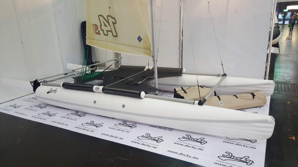 Inflatable sailing catamaran Ducky14s