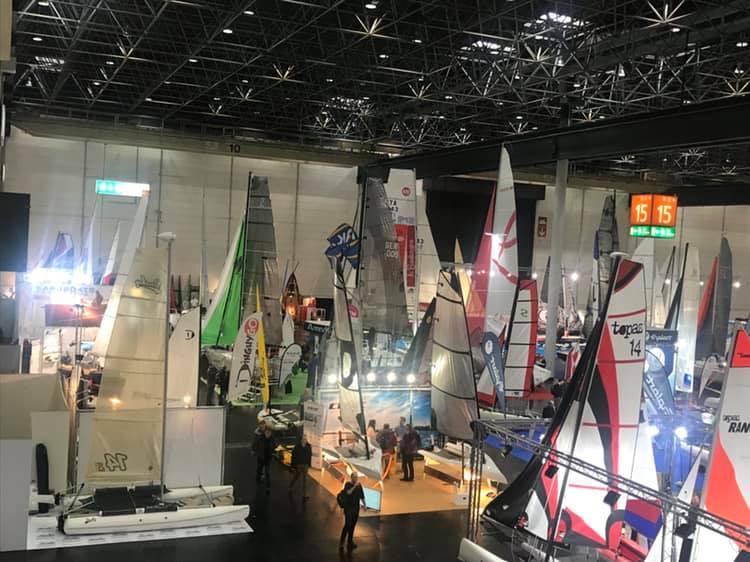 "Inflatable sailing catamaran Ducky14s on the ""Boot Düsseldorf"""