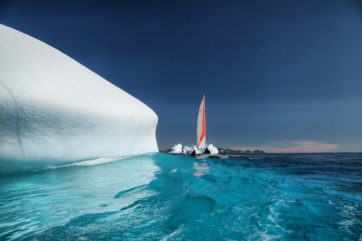 Inflatable sailing catamaran Ducky19 in Greenland